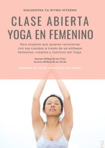 jornadas de puertas abiertas de YOGA EN FEMENINO